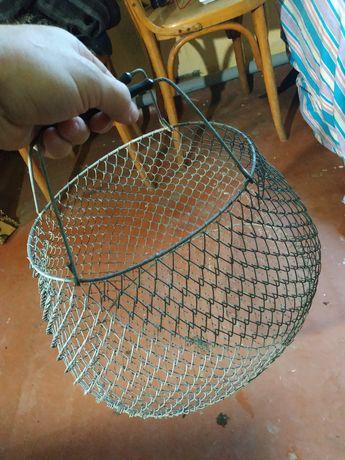 Садок корзина сетка для рыбы, овощей. Металлическая