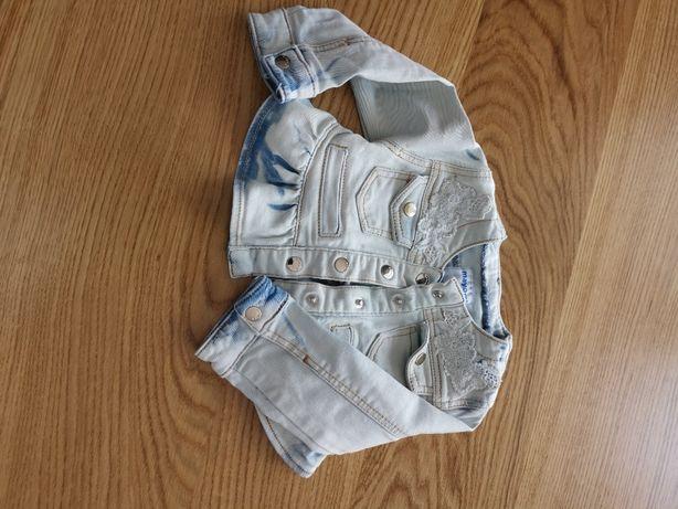 Sukienka z kurteczką jeansową w rozm. 80 Mayoral
