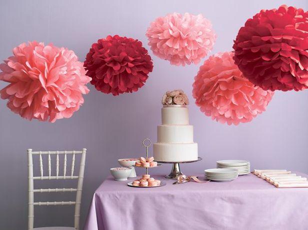 Помпоны 35см. Бумажные цветы (фотозона, декор)