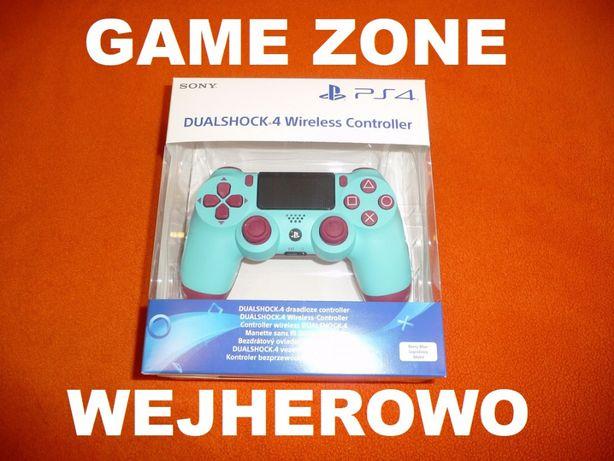 Pad Dualshock 4 V2 PS4 + Slim + Pro = Jagodowy Błekit = Berry Blue