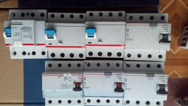 Дифавтоматы 4-х полюсные, автоматы трёхполюсные, автоматы однополюсные