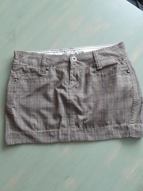 Spódnica mini w kratę