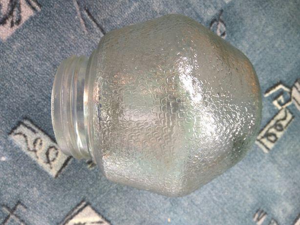 Klosz do lampy ściennej PRL stary szklany