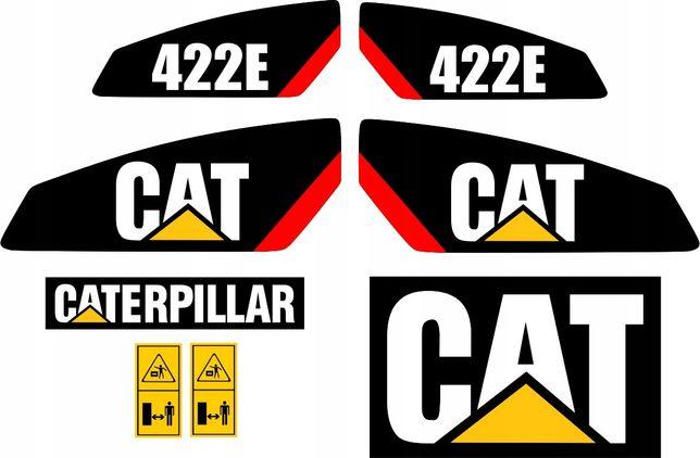 naklejki cat 422e caterpillar koparko ładowarka