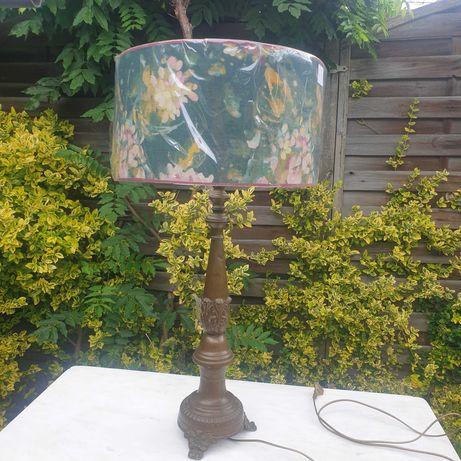 lampa designerska abażur w kwiaty