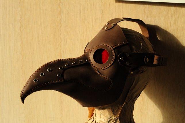 маска их кожи на хэллоуин чумного доктора байкера Доктор смерть