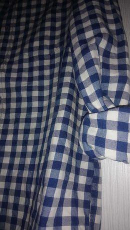 Zara men рубашка в клетку фланеливая размер М.
