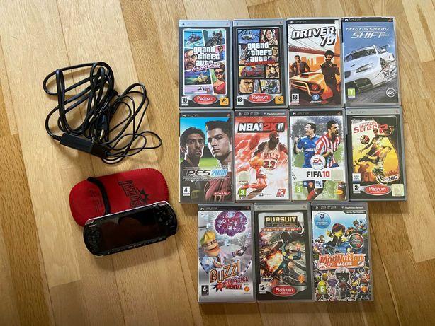 PSP Playstation Portable + 11 Jogos