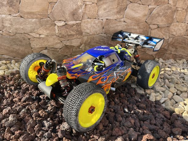 Pack Completo Buggy R/C Nitro HSP Bazooka GT3R 1/8 Combustão