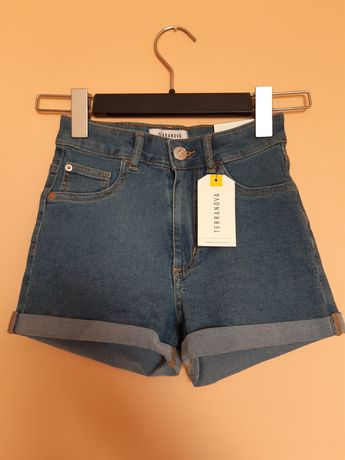Spodenki skinny high waist