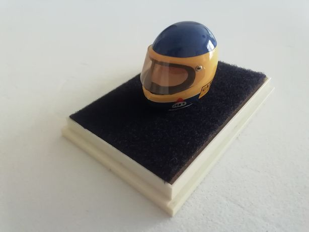 1/18 Capacete MICHELE ALBORETO - Raro (Miniatura - JF Creations)