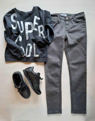 Серые джинсы Mango