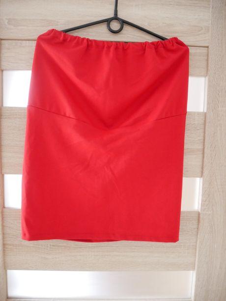 Czerwona spódniczka ciążowa