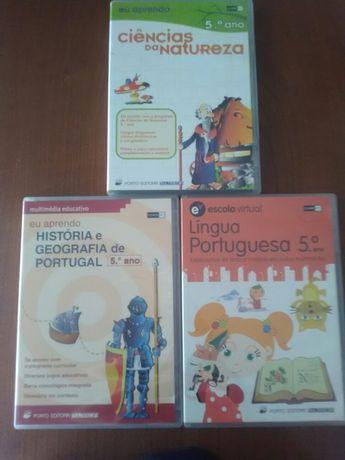 CD-ROM 5°ano Ciências Português e História e Geografia