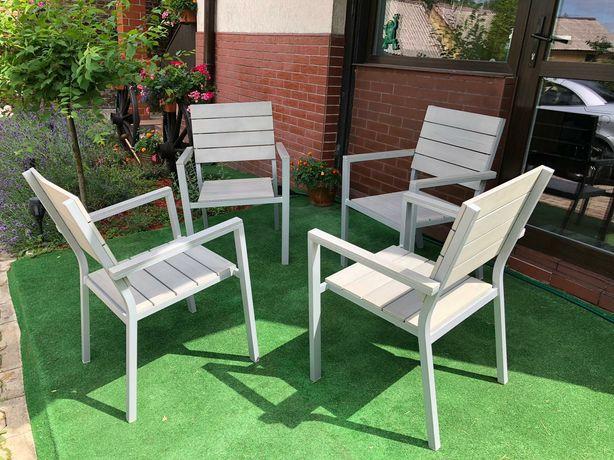Meble ogrodowe komplet 4 krzeseł