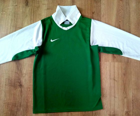 Bluzka NIKE roz.140/146/152 zielona sportowa koszulka chłopięca