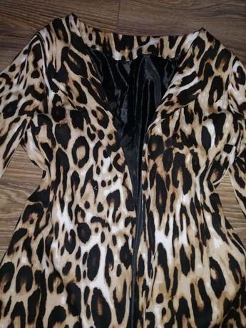Леопардовый пиджак, размер М-L