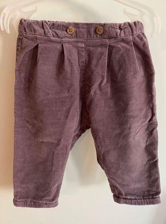 Newbie spodnie fioletowe rozmiar 68