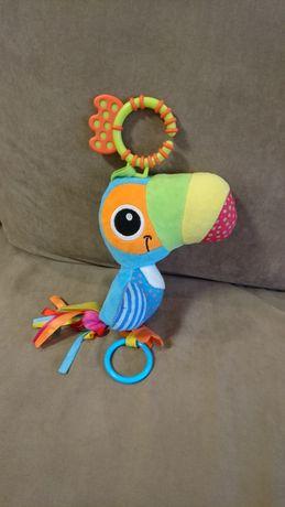 Игрушка мягкая погремушка-подвеска грызунок попугай «Веселый Тукан»