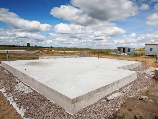Wykonanie plyty fundamentowej Plyty fundamentowe Fundamenty 120zł/m