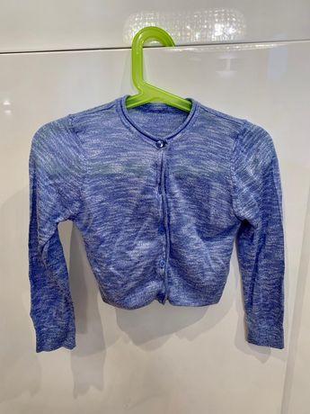 Sweterek niebieski dla dziewczynki 2-3 lata