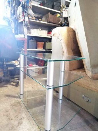 Stolik szklany/ stoliczek szklany pod telewizor itp. Możliwy transport