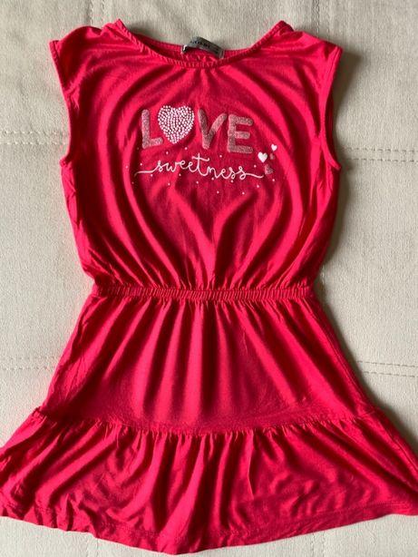 Розовое летнее платье для девочки