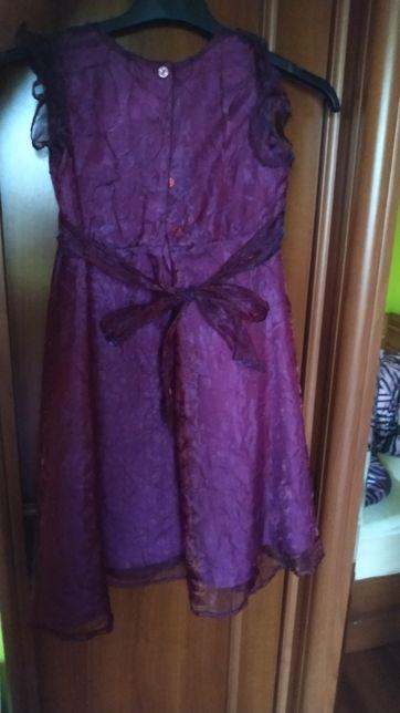 Różową sukienkę w rozmiarze 122