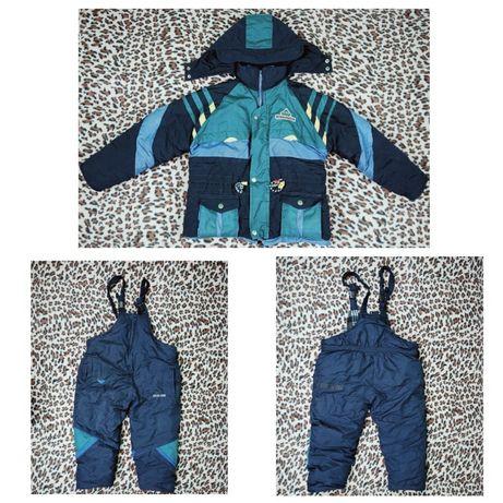 Зимний комбинезон и куртка на плотного мальчика 4-5 лет