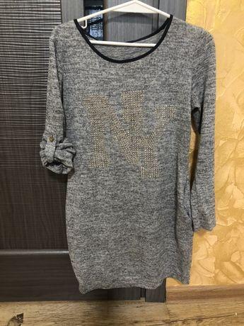 Теплое платье-туника, 158-164 р(S)