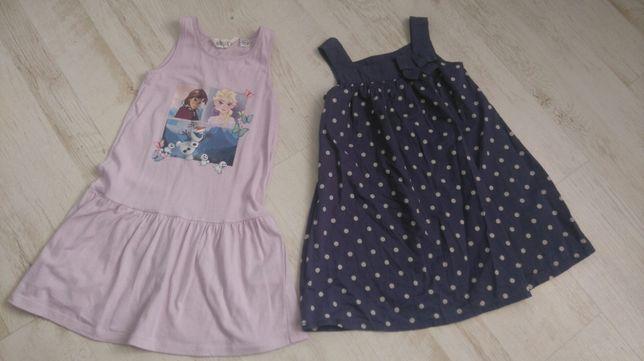 R.116 H&M zestaw sukienek