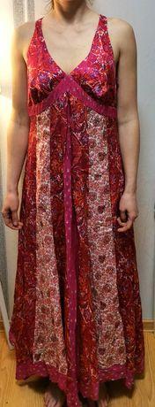 Różowa orientalna sukienka