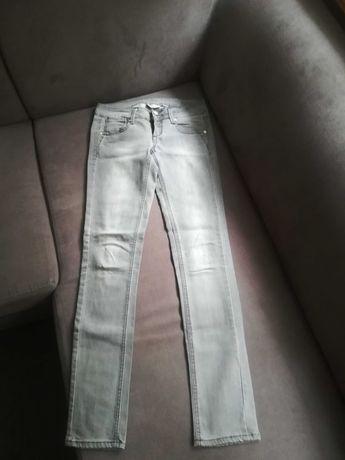 Spodnie Mango, R. 34, prosta nogawka, szare.