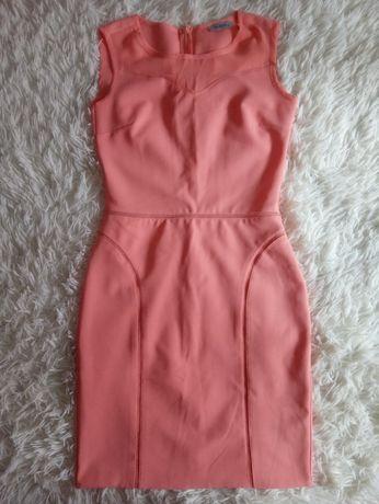 Lososiowa sukienka rozmiar 36