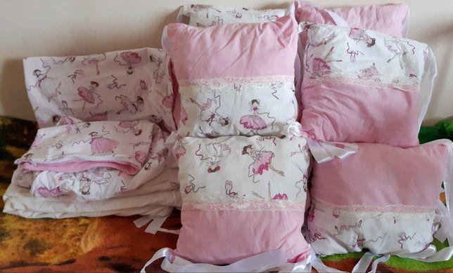 Постельное белье в кроватку, бортики, одеяло,ортопедическая подушка