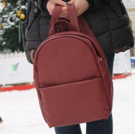 Бордовый женский рюкзак экокожа, для подростка, девочки, школы