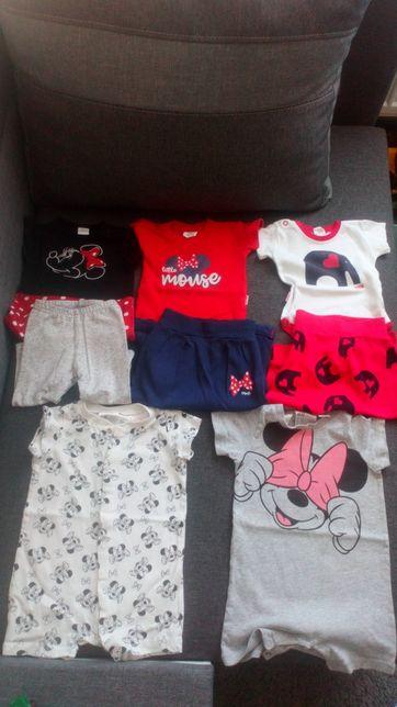 Paka ubrań dla dziewczynki, rozmiar 62/68, Mrofi, H&M, Disney