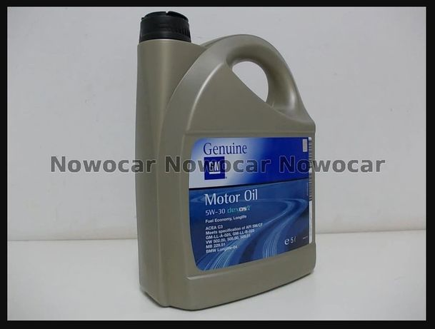 Olej oryginalny Opel GM 5W30 5W 30 5L DEXOS 2 DPF