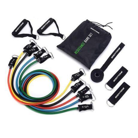 Kit elasticos resistência ginástica