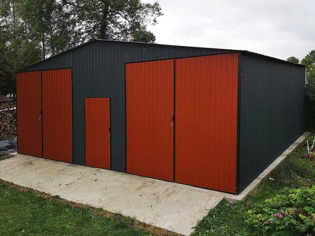Garaż blaszak 8x8 dach dwuspadowy hala