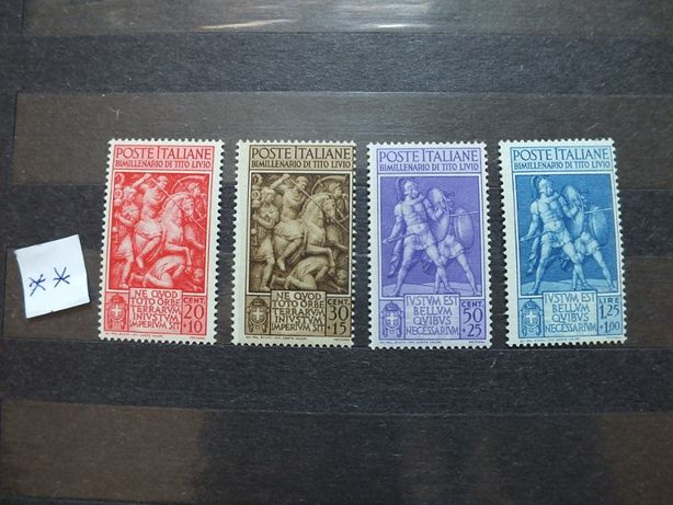 znaczki pełna seria Mi629/632 Włochy 1941r., stan** czyste,klej Italia