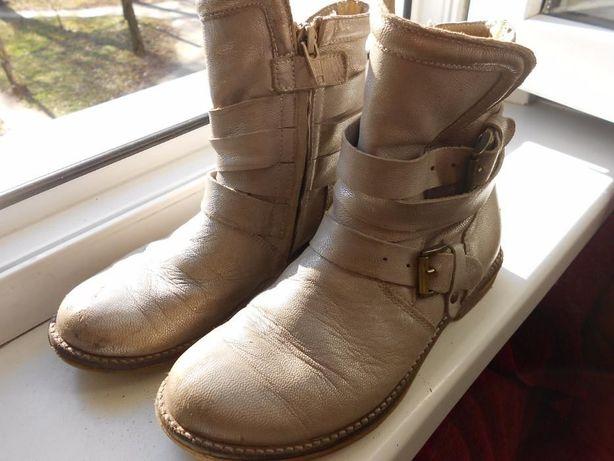 Демисезонные кожаные ботинки, 31 размер.