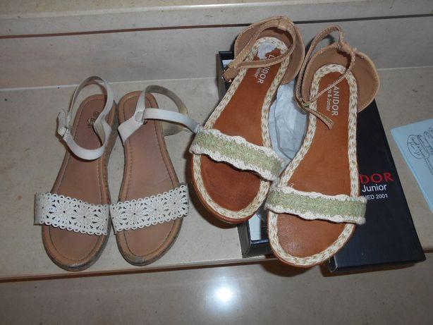 18 pares de sapatos e sandálias 33 a 35