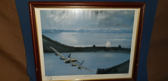 Obraz militaria Lancaster tama bomba szabla