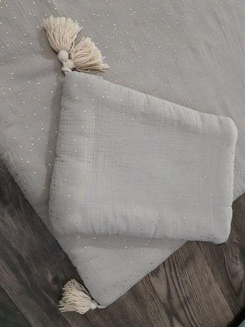 Pościel muślinowa z chwostami kołdra poduszka niemowlęce