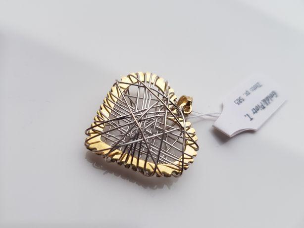 PIĘKNA złota zawieszka SERCE pr. 585