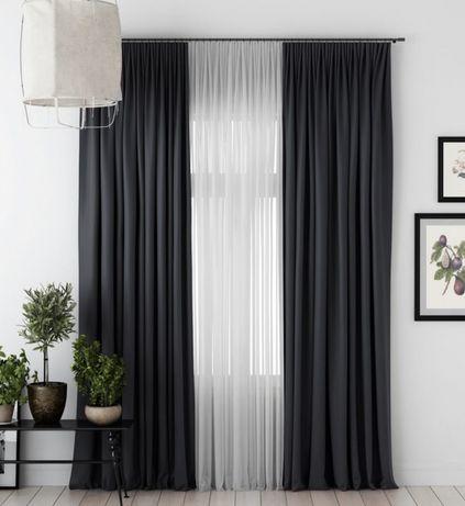 Шторы коричневые темно серый графит зелеленые  разные цвета штор ткань