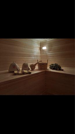 Баня на дровах, сауна с бассейном, номера, комныты, бильярд