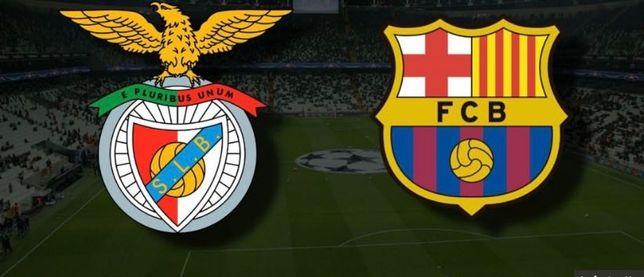 2 bilhetes Benfica x Barcelona