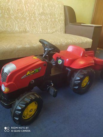 Машина детская, трактор с прицепом